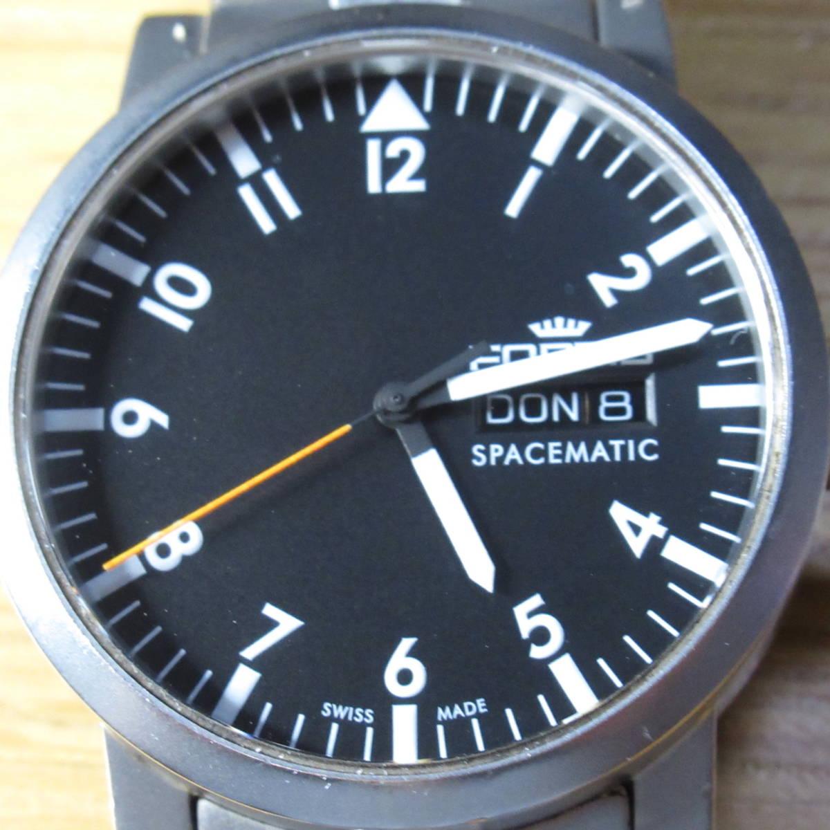 FORTIS フォルティス 自動巻き 腕時計 SPACEMATIC スペースマチック スペースマティック 黒文字盤 623.22.158 稼働品 【現状販売品】_画像6