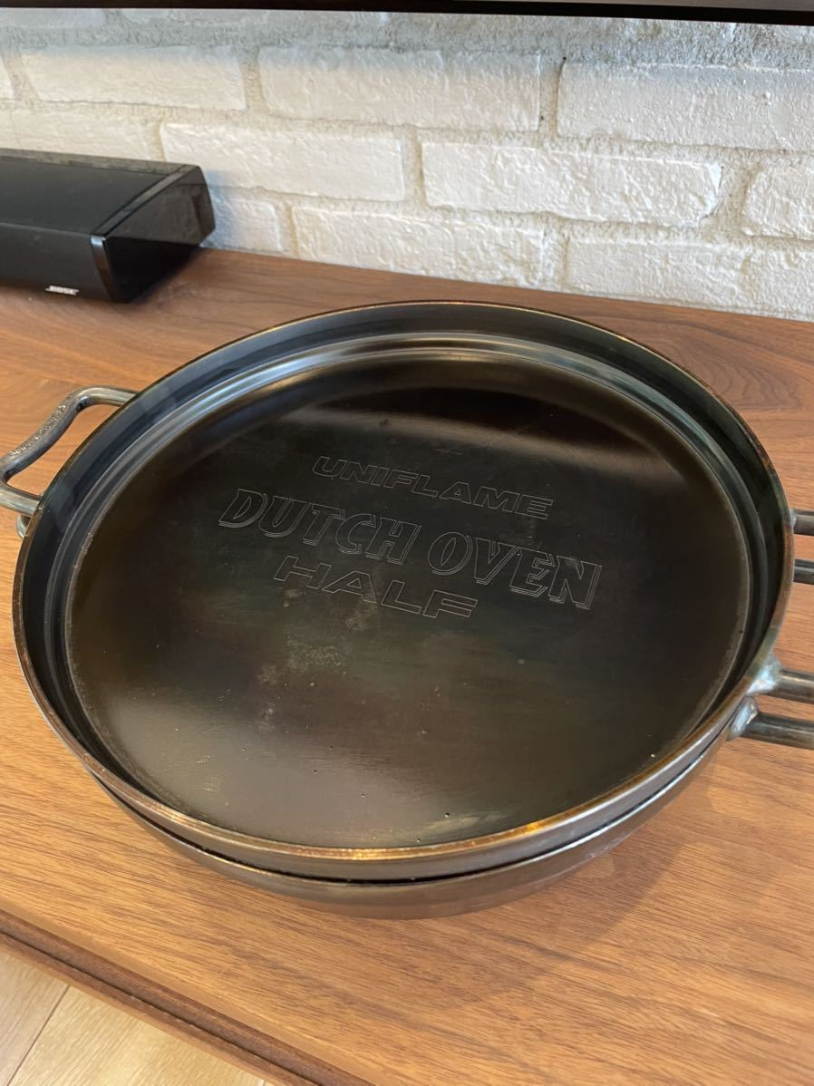 ユニフレーム ダッチオーブン 10インチ ハーフ HALF UNIFLAME ダッチパン_画像1
