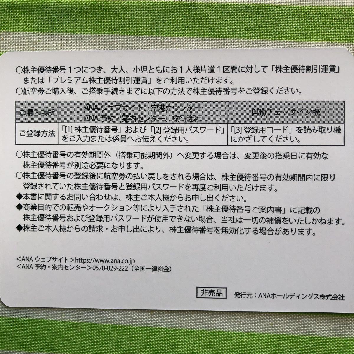 ANA 全日空 株主優待券4枚セット_画像2
