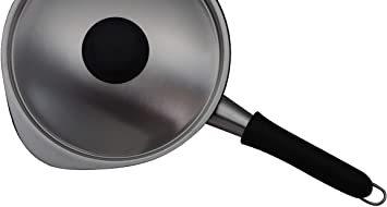 シルバー 径16cm 鍋蓋 ステンレスミルクパン用ふた eYcs6 日本製 柳宗理 つや消し 蓋 シルバー_画像2