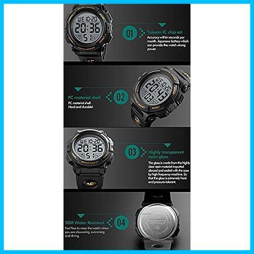★バンド色:ブルー★ Timever(タイムエバー)デジタル腕時計 メンズ 防水腕時計 led watch スポーツウォッチ アラーム_画像6