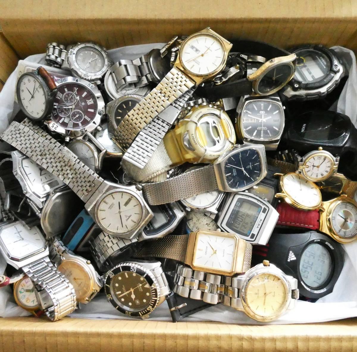 時計おまとめ☆1円~☆5.2kg位 ジャンク時計など SEIKO 手巻き CITIZEN ATTESA CASIO BABY-G WALTHAM NIXON OXY SWATCH TIMEX 部品など