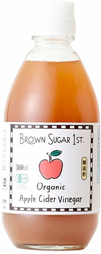 300ml オーガニック アップルサイダービネガー 300ml (有機 りんご酢 無添加 100%天然 ブラウンシュガーファース_画像1