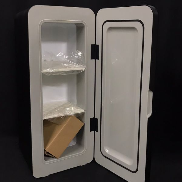 A11s12A 未使用 レコルト パーソナルクーラーボックス RPC-1 recolte Personal Cooler Box ブラック ミニ 冷蔵庫_画像6
