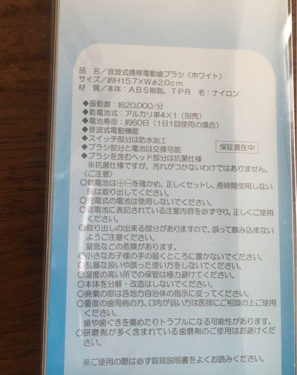 音波式携帯用電動歯ブラシと専用替えブラシのセット 携帯歯ブラシ