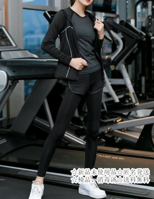 スポーツウェア トレーニングウェアヨガウェア 上下セットレディース Mサイズ