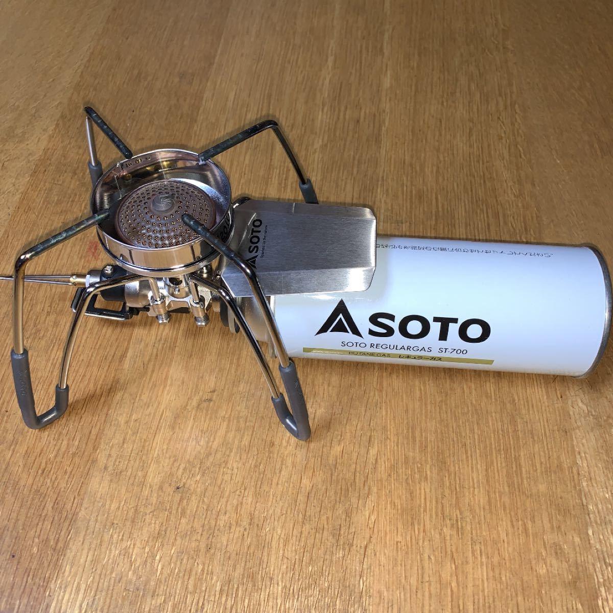 SOTO ソト シングルバーナー ST-310用風防 &    ブッシュクラフト麻袋