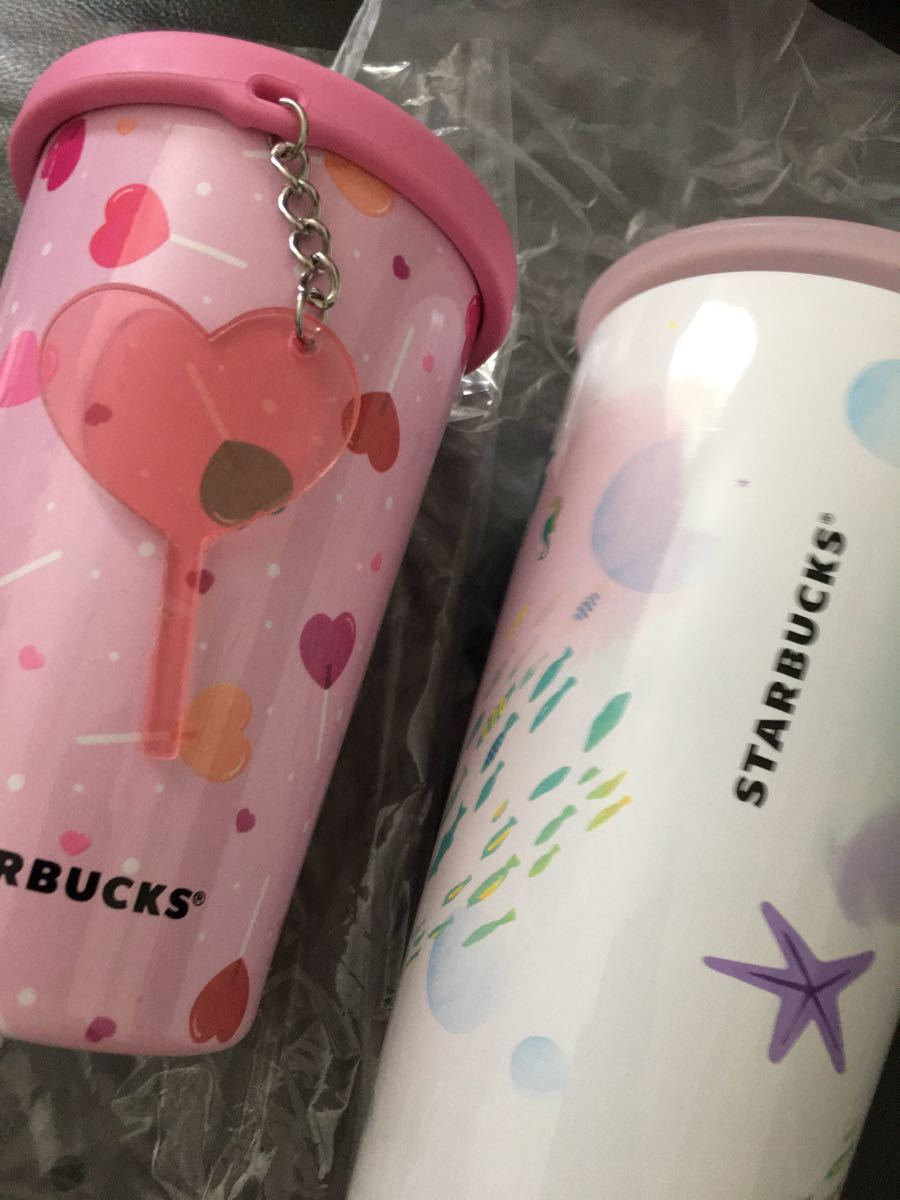 スターバックス ステンレスボトル ステンレスタンブラー くじら バレンタイン ハート ステンレスボトル 水筒 ステンレスマグ
