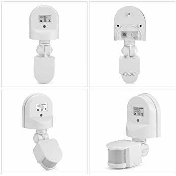 白い AC 110~240V赤外線センサースイッチ 人感センサースイッチ 調節可能 LEDライト、コンパクト蛍光灯、白熱電球など_画像7
