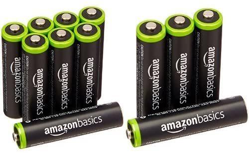 ベーシック 充電池 充電式ニッケル水素電池 単4形8個セット (最小容量800mAh、約1000回使用可能) &am_画像1