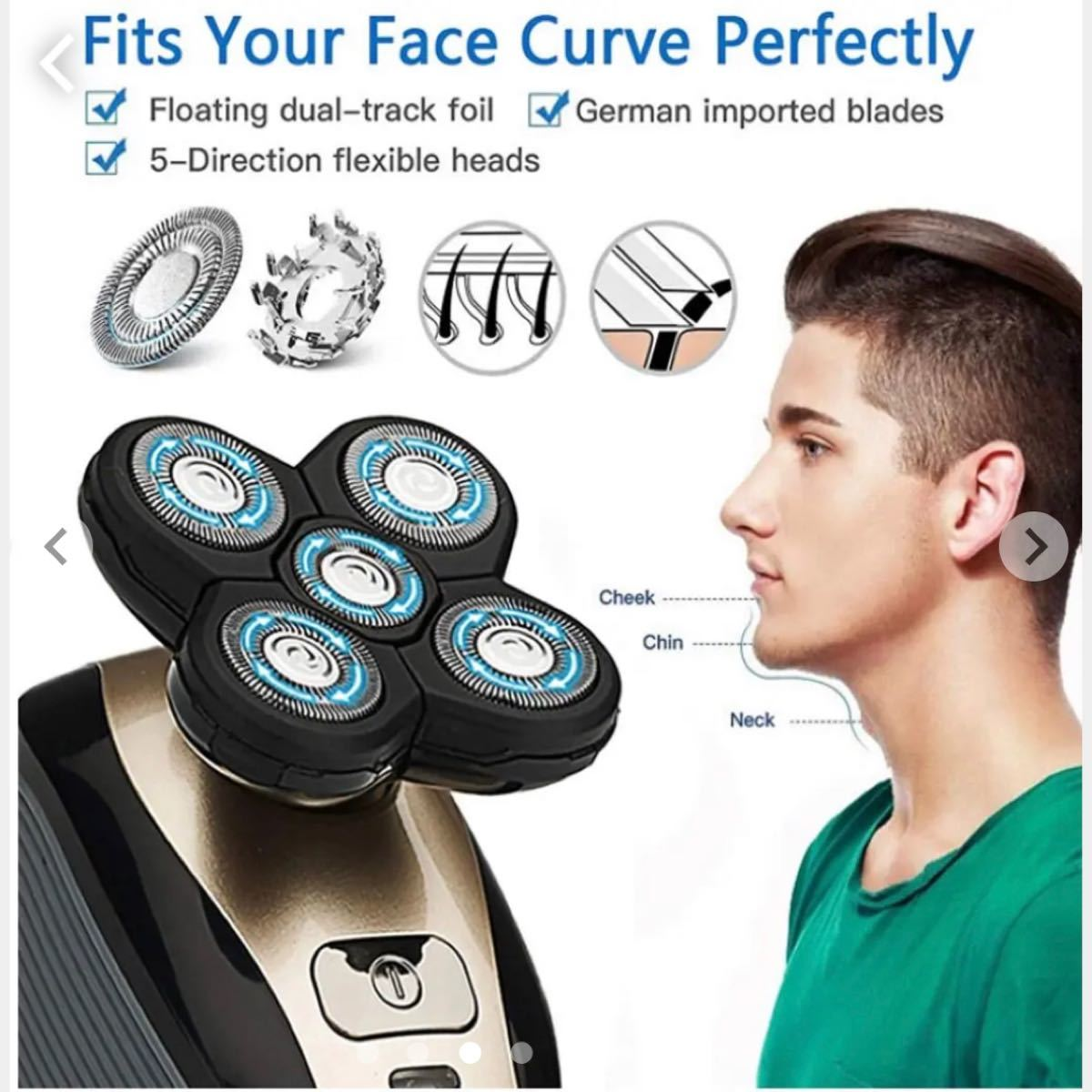 電気シェーバー メンズシェーバー 電動 髭剃り シェーバー 防水 充電式