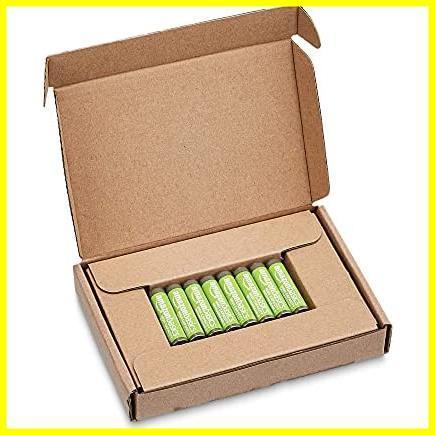 Amazonベーシック 充電池 高容量充電式ニッケル水素電池単4形8個セット (充電済み、最小容量 800mAh、約500回使用可能)_画像4