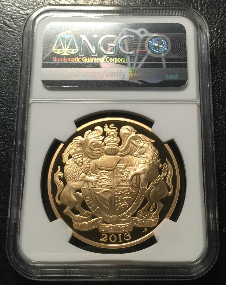 イギリス 2013年 5ポンド金貨 NGC PF70 Ultra Cameo 発行枚数: 148枚 最高鑑定 _画像2