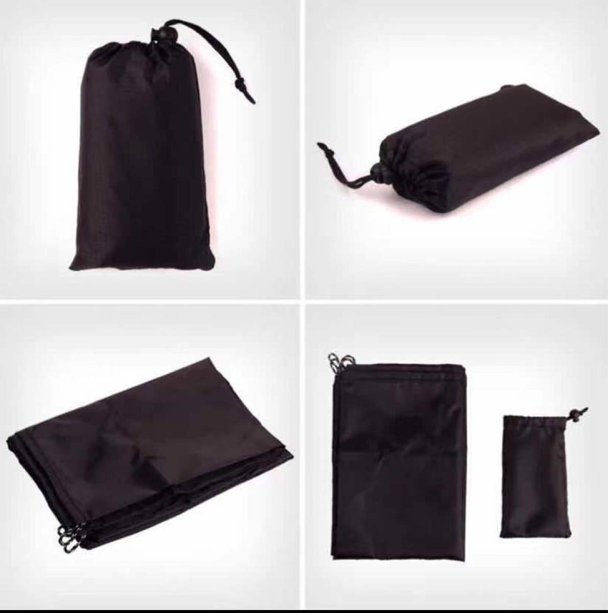 レジャーシート 超軽量 テントシート 黒