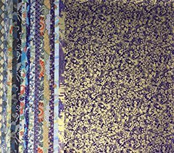 青色系Bセット15枚 【.co.jp 限定】和紙かわ澄 千代紙 友禅和紙 大判 38.5×53cm 15_画像3