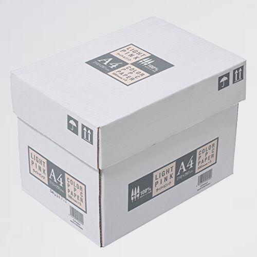 新品 好評 カラ-コピ-用紙 APP X-YQ 紙厚0.09mm 2500枚(500枚×5冊) A4 ライトピンク_画像1