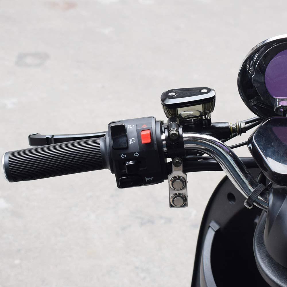 新品_オートバイハンドルバースイッチ ATVバイク 12V LED ヘッドライトフォグライトスイッチ 防水 過負荷保護 ブルーラ_画像6