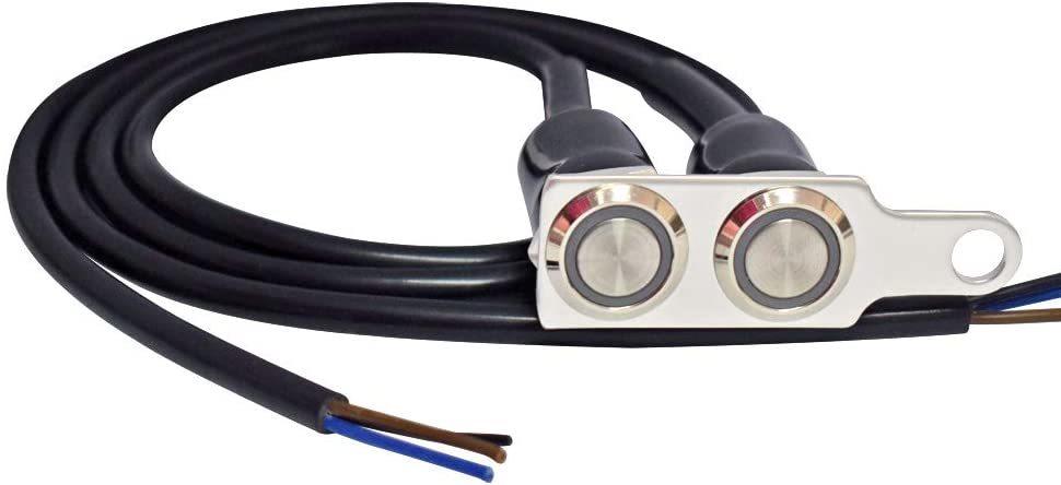 新品_オートバイハンドルバースイッチ ATVバイク 12V LED ヘッドライトフォグライトスイッチ 防水 過負荷保護 ブルーラ_画像4