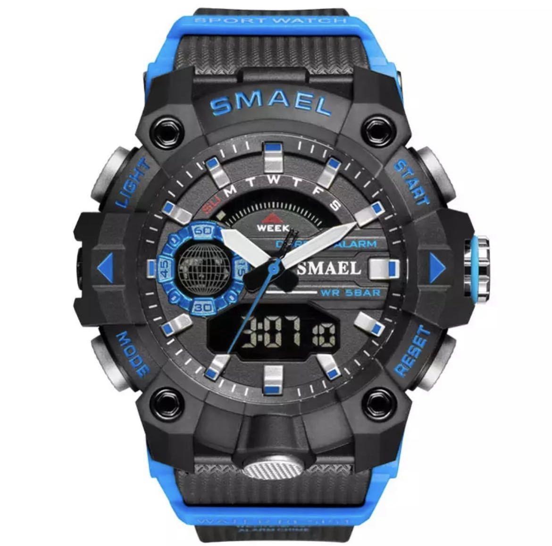 ◆ ミリタリー ウォッチ メンズ スポーツ 防水 腕時計 ストップウォッチ アラーム ledライト デジタル腕時計 メンズスポーツ時計 1740_画像1