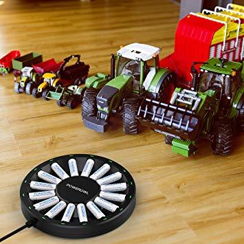 電池充電器 単3形充電池2100mAh Powerowl急速電池充電器単三単四ニッケル水素/ニカド充電池に対応 16本同時充電可_画像7