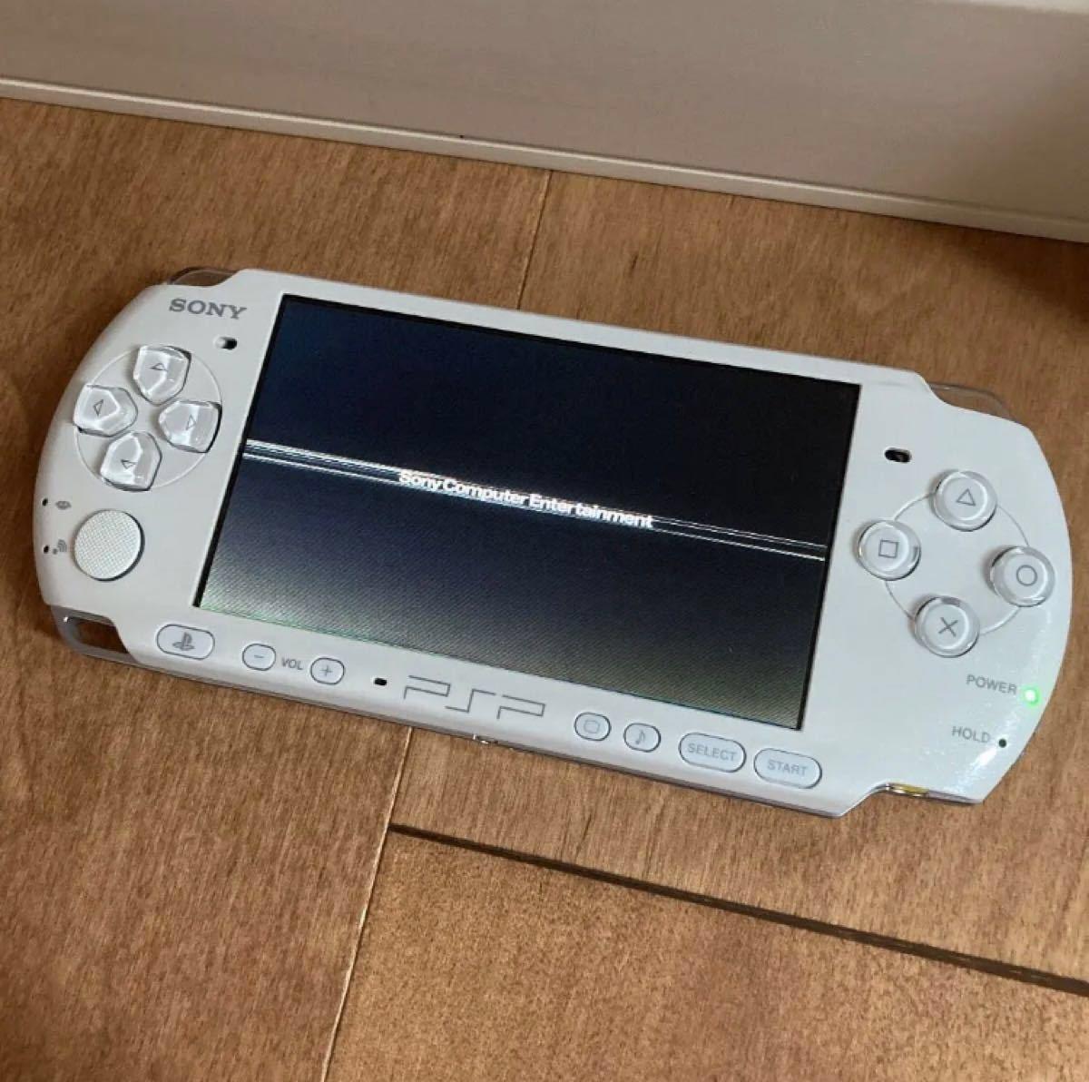 【ソフト5本付き】PSP-3000 SONY PSP パールホワイト ゲーム機