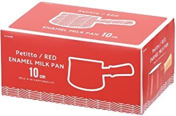 レッド パール金属 ミルクパン 10cm ホーロー レッド プチっと HB-5065_画像2