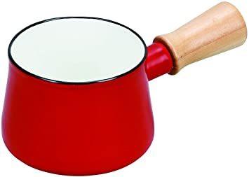 レッド パール金属 ミルクパン 10cm ホーロー レッド プチっと HB-5065_画像1