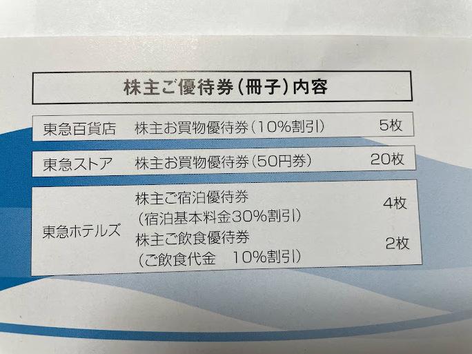東急 株主優待券 1冊 送料込_画像2