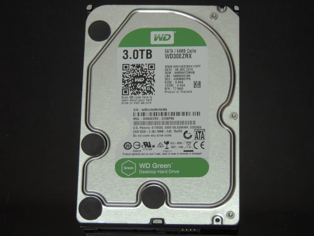 【検品済み】WD Green 3TB HDD 3.5インチ WD30EZRX (使用2361時間) 管理:e-56_画像1