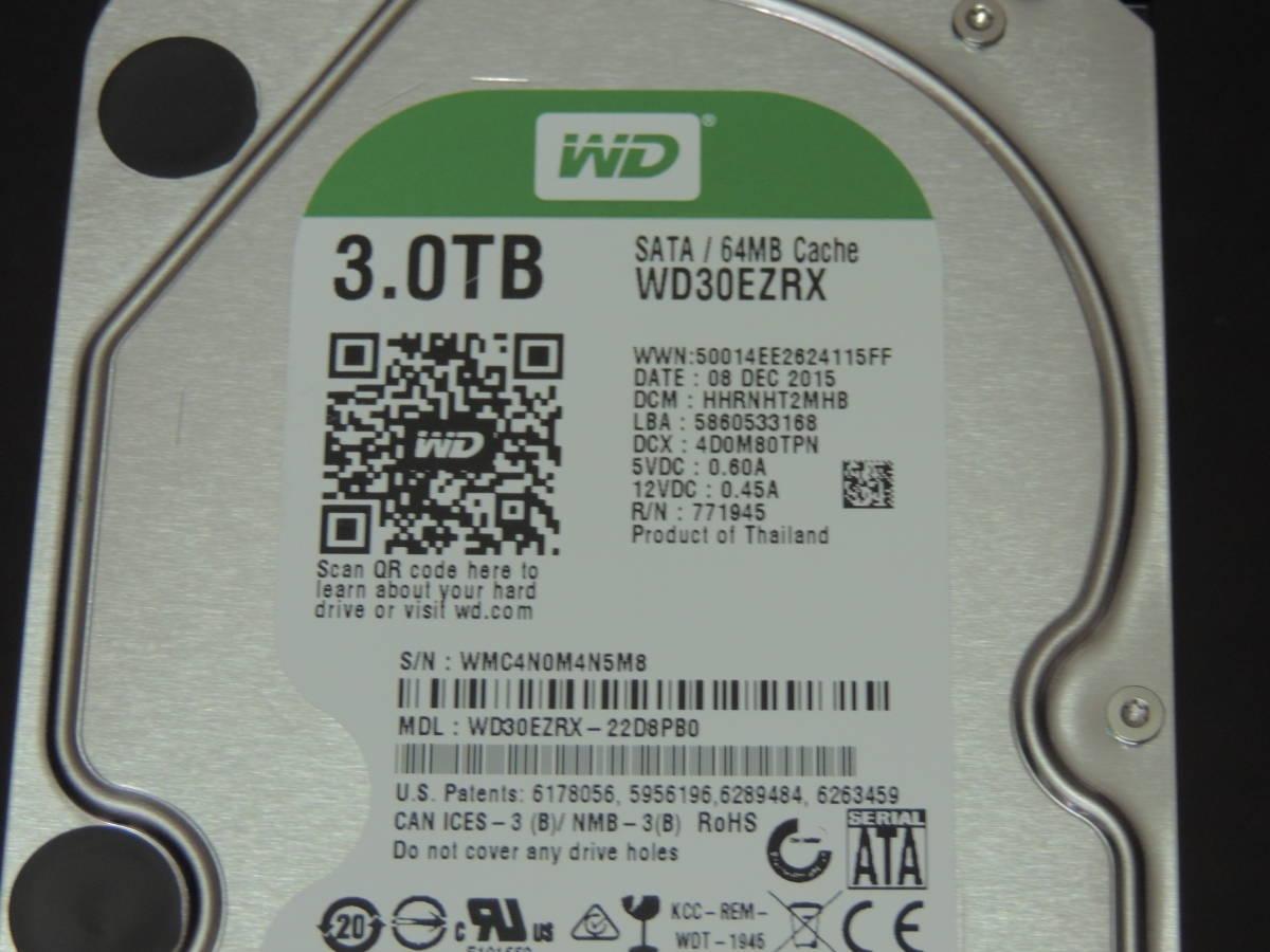 【検品済み】WD Green 3TB HDD 3.5インチ WD30EZRX (使用2361時間) 管理:e-56_画像4
