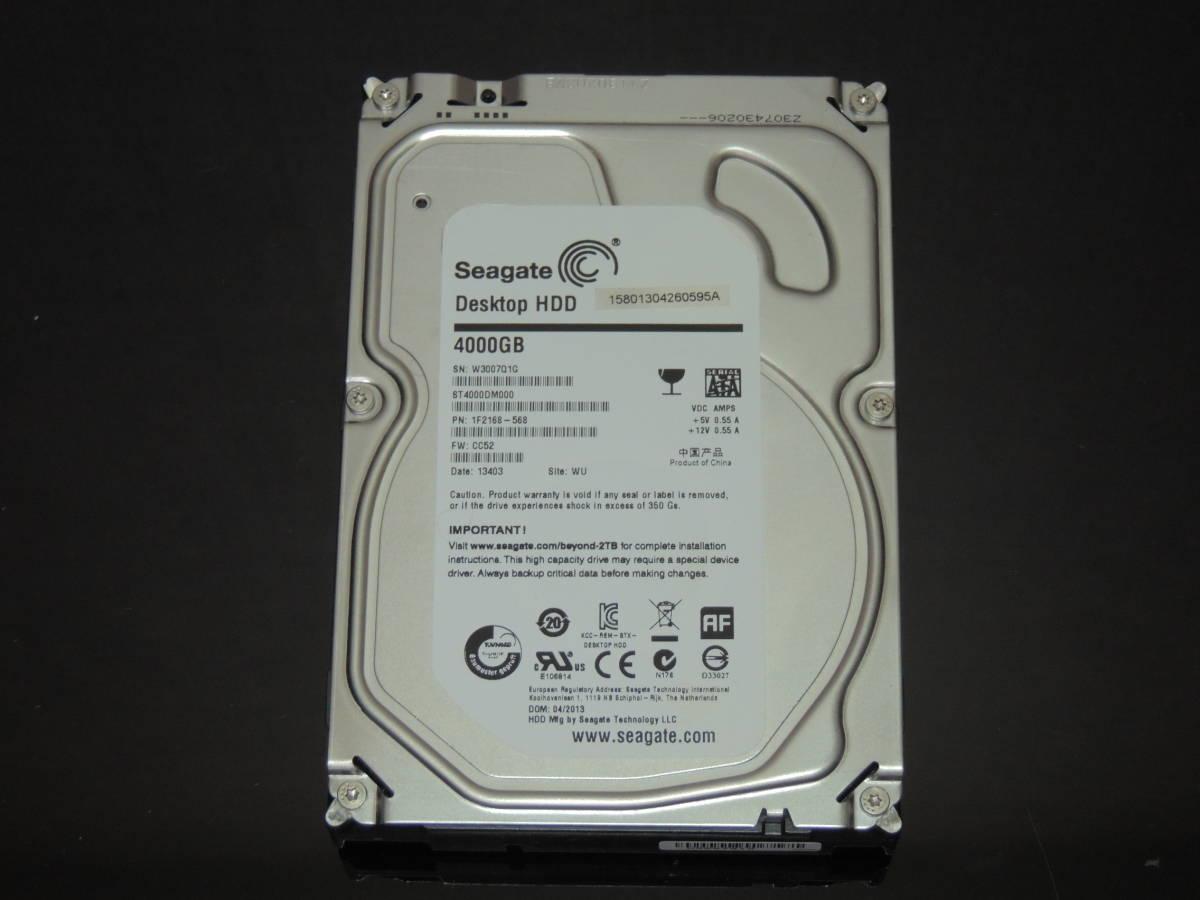【検品済み/使用1012時間】Seagate 4TB HDD 3.5インチ ST4000DM000 管理:o-99_画像1