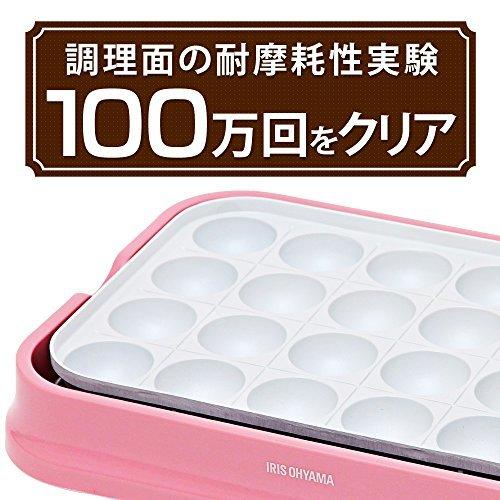 ピンク アイリスオーヤマ たこ焼き器 2WAY ( たこ焼きプレート 24穴 平面プレート ) セラミックコート ピンク PHP_画像2