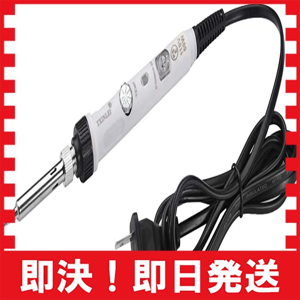 Full Size TXINLEIはんだこてセット 60W 110V 温度調節可能 半田ごて セット ON/OFFスイッチ 5点_画像3