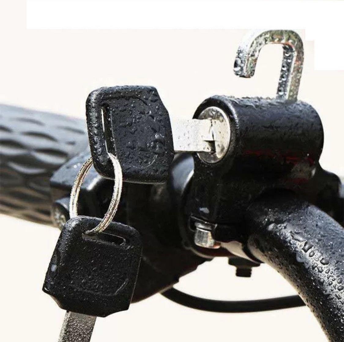 ヘルメットロックホルダー バイク 盗難防止 汎用 キーロック 鍵 自転車 防犯 2個セット_画像4