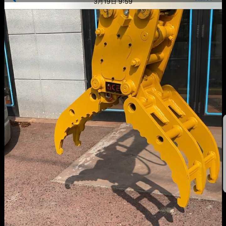「★オートエース建機★油圧式フォーク/掴み/グラッブル/ピン径30mm~45mmの全メーカーに適合。2トン~4トン用、ブッシュ。ピン交換タイプ。」の画像2