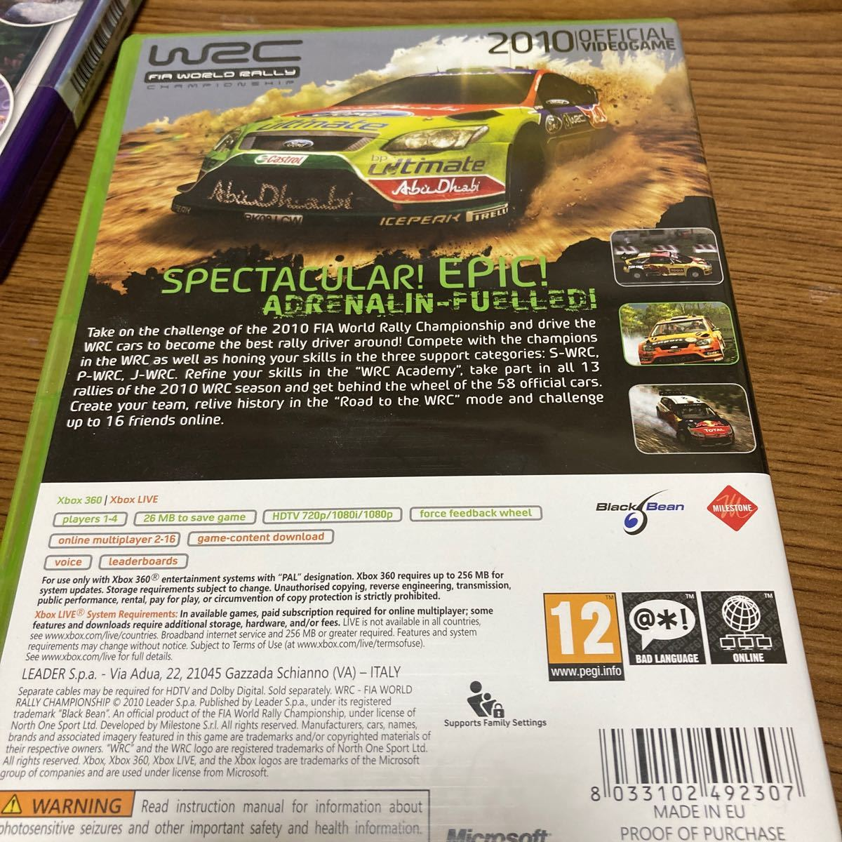 XBOX360ソフト EU版 WRC〜FIA WORLD RALLY CHAMPIONSHIP (国内版本体動作可)