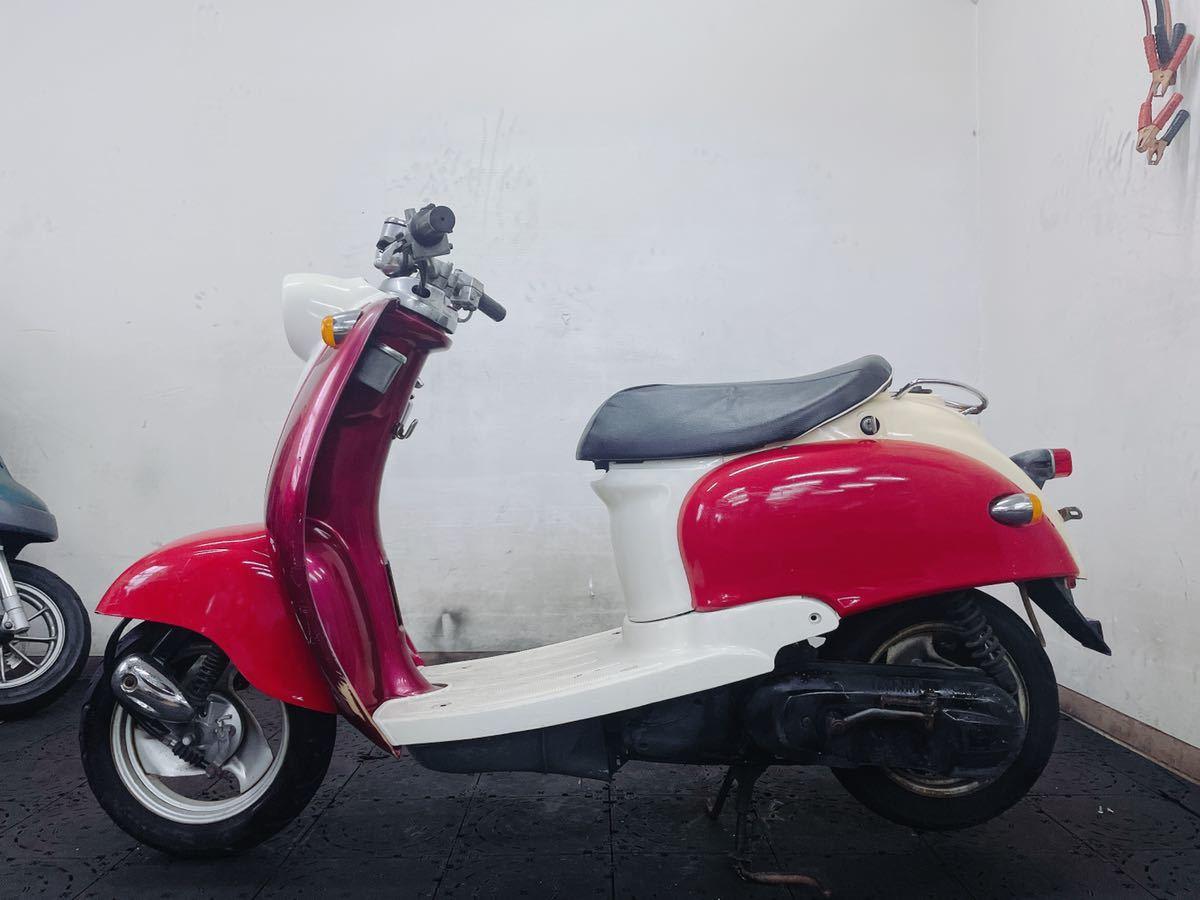 「YAMAHA ビーノ 5AU 馬力の2サイクル 可愛いお洒落な原付バイク 色の二刀流だからオオタニさんもびっくり 福岡市内発どこでも陸送可能」の画像2