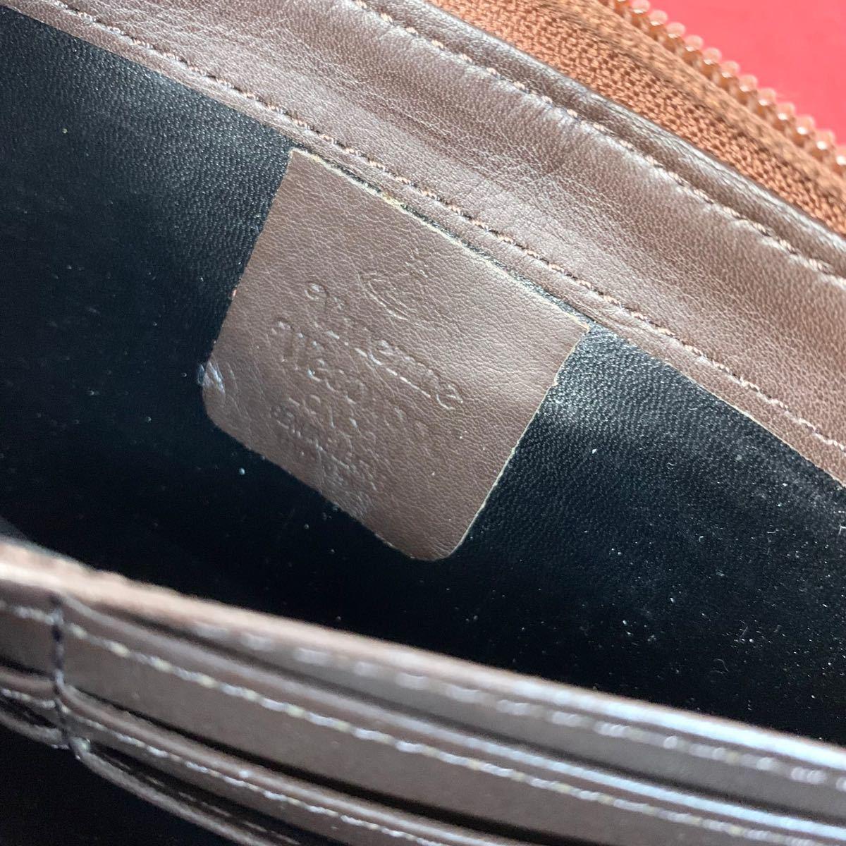 【vivienne Westwood】オーブ柄 ラウンドファスナー 長財布 箱有 男女兼用 ヴィヴィアンウエストウッド
