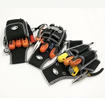 Cタイプ 工具用ウエストバッグ 大工 電工用 作業効率の良い機能設計 工具差し 工具袋 ポーチ腰袋 ベルトポーチ ツールバッグ _画像3