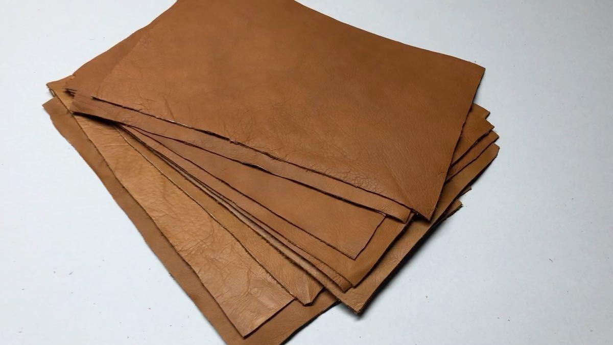 送料無料 茶色系 レザー A4サイズ 20枚 ハンドメイド レザークラフト  工業用ミシン 手芸 牛革