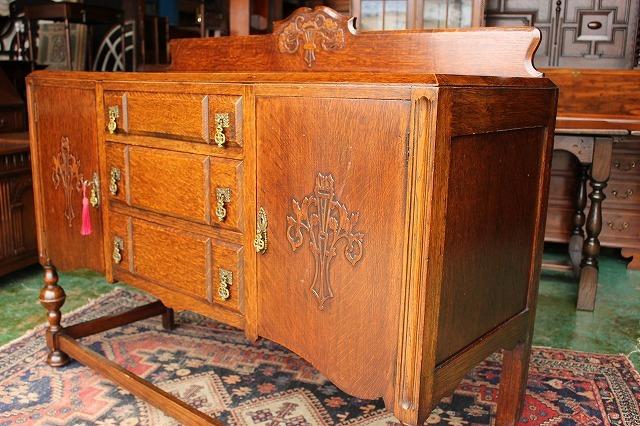 イギリスアンティーク家具 サイドボード キャビネット 英国製 J150_画像5