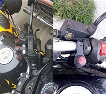 ヘッドライトフォグスポットライトON/OFFスイッチ 防水 12V 22mmハンドルバーオートバイ用_画像6