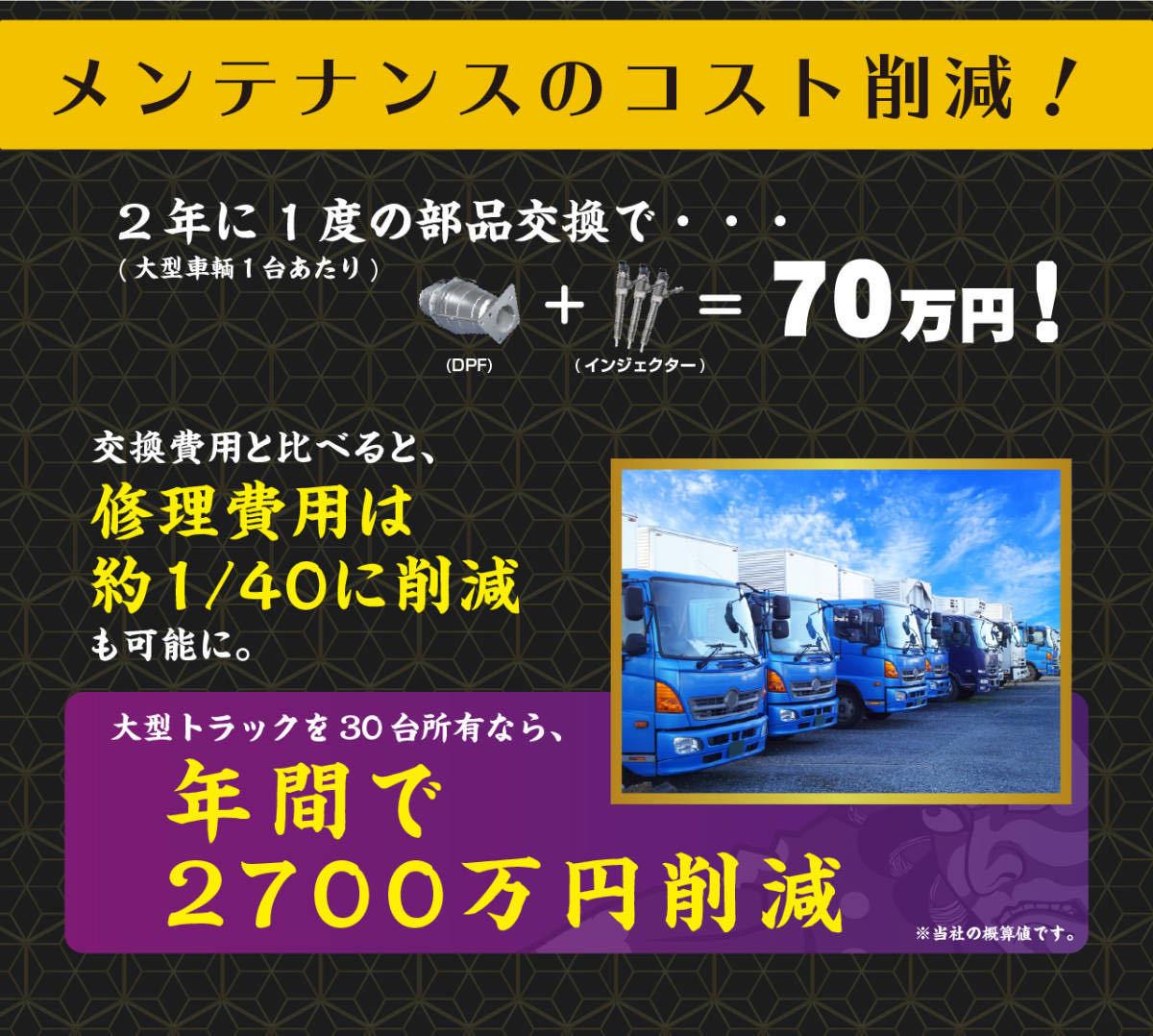 まとめて 5本セット【トラック乗必見】すす殺し 煤殺し 赤 洗浄再生クリーナー 500ml DPF DPD DPR 【お得】_画像9