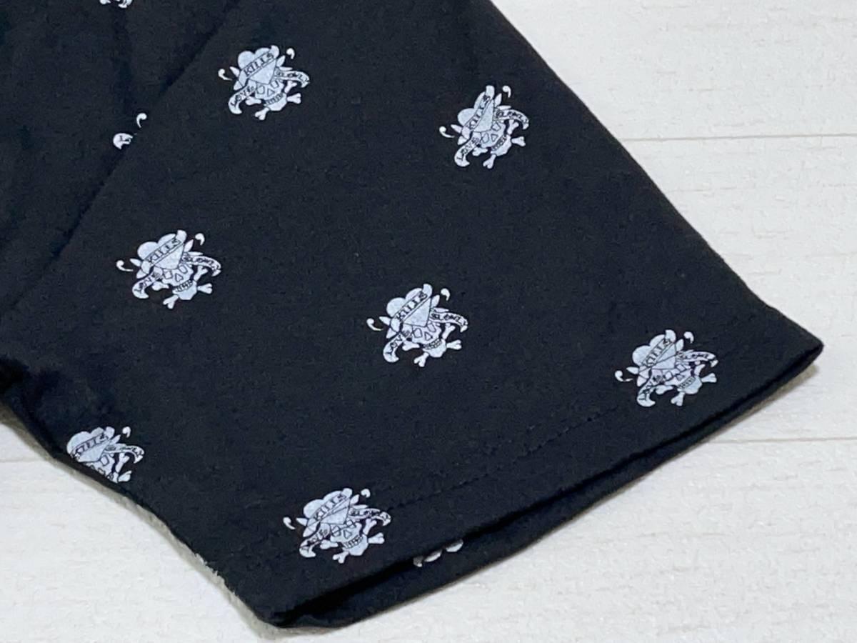 ☆送料無料☆ Ed Hardy エドハーディー 未使用 タグ付き 半袖 胸ポケット Vネック Tシャツ メンズ M ブラック トップス 中古 即決_画像6