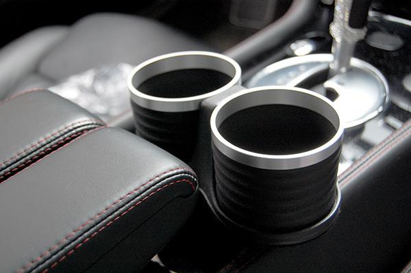 ベントレー コンチネンタル GT/GTC/フライングスパー/GTスピード ドリンクホルダー ブラック/リング/シルバー 簡単装着 ALCABO_画像3
