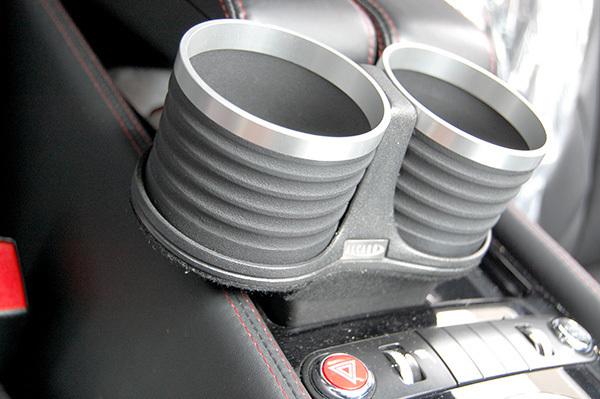 ベントレー コンチネンタル GT/GTC/フライングスパー/GTスピード ドリンクホルダー ブラック/リング/シルバー 簡単装着 ALCABO_画像4