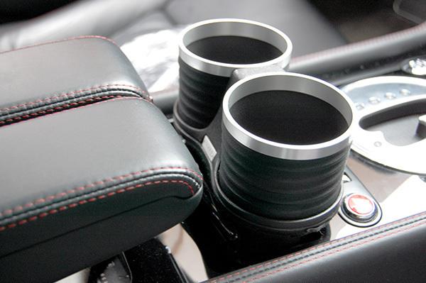 ベントレー コンチネンタル GT/GTC/フライングスパー/GTスピード ドリンクホルダー ブラック/リング/シルバー 簡単装着 ALCABO_画像2
