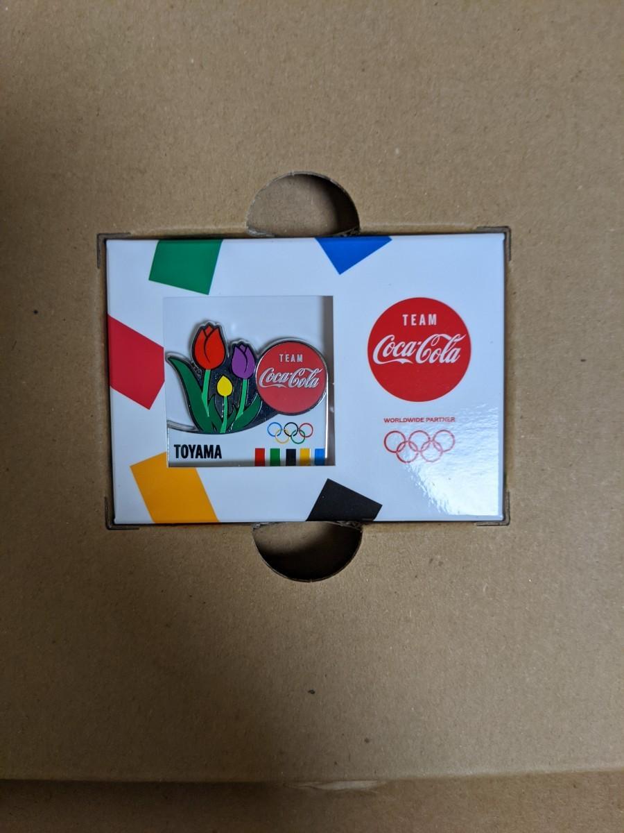 コカ・コーラ 東京オリンピック 聖火リレー 都道府県ピンバッジ 富山県