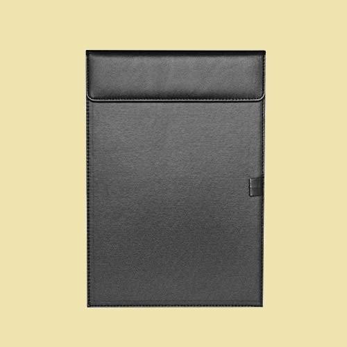 セール 新品 バインダ- クリップボ-ド 6-BH おしゃれ ブラック PU 会議パッド クリップファイル A4 A5 下敷き マット ファイル_画像1
