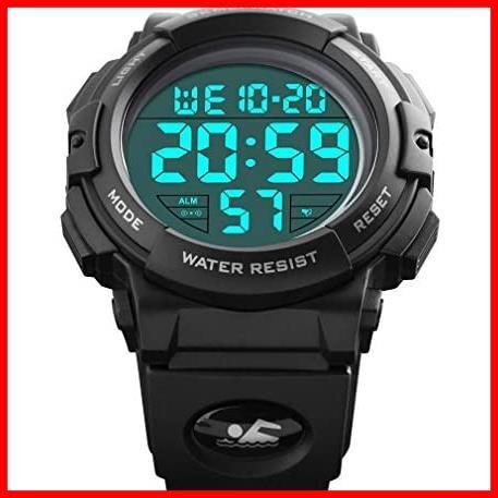 2F 新品 新品Timever(タイムエバー)デジタル腕時計 スポーツウォッチ 防水腕時計 watch アラーム 迅速対応 メンズ led 新品 新品 1T_画像2